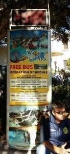 Buses On Rhodes To The Water Park